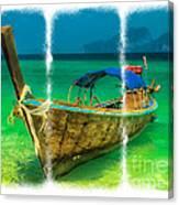 Triptych Longboat Canvas Print