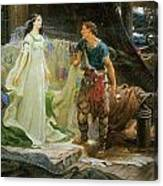 Tristram And Iseult Canvas Print