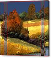 Trittico-sole Grigio Canvas Print