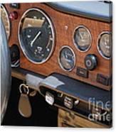 Triumph Tr 6 Dashboard Canvas Print