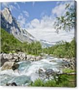 Trollstigen River Canvas Print