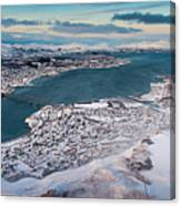 Tromso City Canvas Print