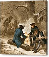 Troops At Valley Forge Canvas Print