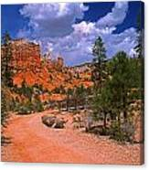 Tropic Canyon In Bryce Canyon Park Canvas Print