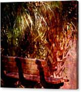 Tropical Bench Canvas Print