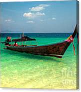 Tropical Boat Canvas Print