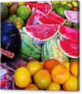 Tropical Colouring Canvas Print