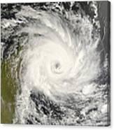 Tropical Cyclone Ivan Over Madagascar Canvas Print
