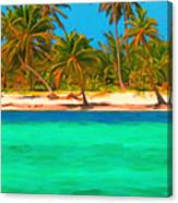 Tropical Island 5 - Painterly Canvas Print
