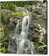 Tropical Rainforest And Waterfall Canvas Print