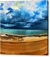 Tropical Seasonal Monsoon Rain V2 Canvas Print