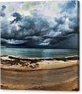 Tropical Seasonal Monsoon Rain V3 Canvas Print