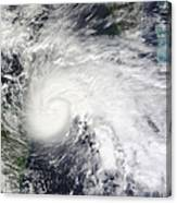 Tropical Storm Ida In The Caribbean Sea Canvas Print
