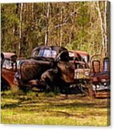 Truck Graveyard Canvas Print