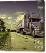 Truck On  Canvas Print