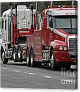 Truck Tow Canvas Print