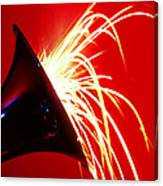 Trumpet Shooting Sparks Canvas Print