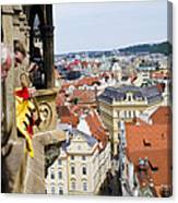 Trumpeter - Prague Old Town Square Canvas Print