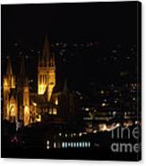 Truro Cathedral Illuminated Canvas Print