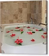 Tub Of Hibiscus Canvas Print