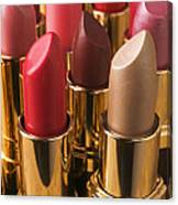 Tubes Of Lipstick Canvas Print