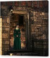 Tudor Lady In Doorway Canvas Print