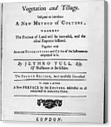 Tull: Title Page, 1762 Canvas Print