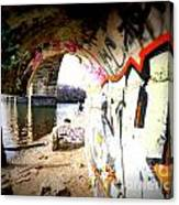 Tunnel Bridge River Fish Canvas Print