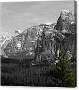 Tunnel View Selective Color Canvas Print