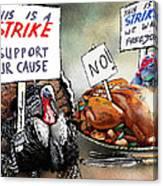 Turkey Strike Canvas Print