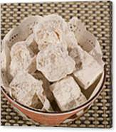 Turkish Delight In A Bowl Canvas Print
