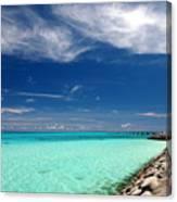 Turquoise Blue Sea Canvas Print
