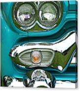 Turquoise Headlight Canvas Print