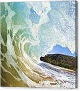 Turquoise Wave Breaking On Makena Shore Canvas Print