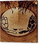 Turtles Love Digital Artwork Canvas Print