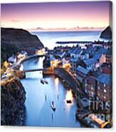 Twilight Glow Staithes Canvas Print
