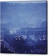 Twilight In Bath, England Canvas Print