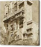 Twilight Zone Tower Of Terror Vertical Hollywood Studios Walt Disney World Prints Vintage Canvas Print