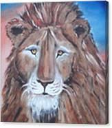 Twilight's Lion Canvas Print