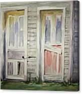 Twin Doors Canvas Print