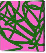 Twisty Green Thing Canvas Print