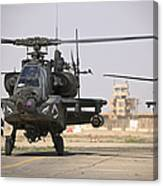 Two Ah-64 Apache Helicopters Return Canvas Print