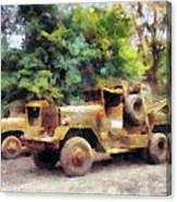Two Army Trucks Canvas Print