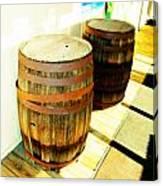 Two Barrels 2 Canvas Print