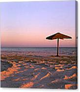 Two Beach Umbrellas Canvas Print
