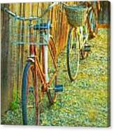 Two Bicyles Canvas Print