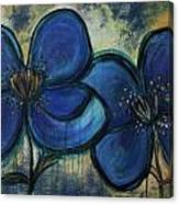 Two Blue Poppies Canvas Print