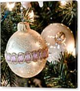 Two Christmas Ornaments Canvas Print
