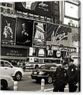 Two Cops On Broadway Canvas Print