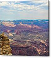 Two Crows Watch Over The Canyon Canvas Print